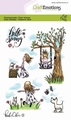 Craft Emotions Clear Stamp Kaat & Odey 3 Spring 130501/1603