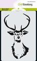 Craft Emotions Mask Stencil Rendier 185070/0101