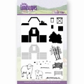 Jeanine's Art Clear Stamp Spring Landscapes Farm JACS10025