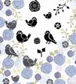 Card-io Majestix Clear Stamp Bullfinches &  Blooms CDMABU-01