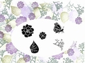 Card-io Majestix Clear Stamp Begonia Garden CDMABE-01