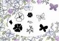 Card-io Majestix Clear Stamp Sketchy Spring Floral CDMASK-02