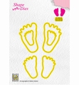 Nellie Snellen Shape Die Baby Feet SD166