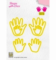 Nellie Snellen Shape Die Baby Hands SD165