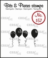 Crealies Clear Stamp Bits & Pieces nr. 157  CLBP157
