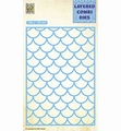 Nellie Snellen Layered Combi Die Rectangle Waves A LCDW001