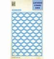 Nellie Snellen Layered Combi Die Rectangle Waves C LCDW003