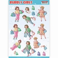 Yvonne Creations knipvel Bubbly Girls Shopping CD11307