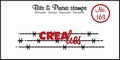 Crealies Clear Stamp Bits & Pieces nr. 163  CLBP163