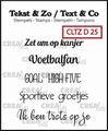 Crealies Clear Stamp Tekst en zo Divers 25 CLTZD25