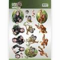 Amy Design knipvel Wild Animals - Monkeys CD11299