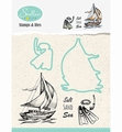 Nellie Snellen Stamps & Dies Holiday - Boat HDCS001