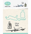 Nellie Snellen Stamps & Dies Holiday - Plane HDCS003