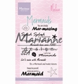 Marianne Design clear stamp Mermaid Sentiments CS1025