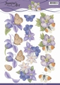 Jeanine's Art Knipvel Purple Flowers CD11079