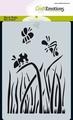 Craft Emotions Mask Stencil Bugs - Gras 185070/0111