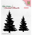 Nellie Snellen Silhouette Clear Stamp Fir Trees CSIL009