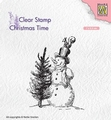 Nellie Snellen Clear Stamp Snowman & Tree CT029