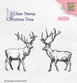 Nellie Snellen Clear Stamp Two Reindeer CT028