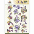 Precious Marieke knipvel Blooming Summer - Pansies CD11313