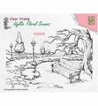 Nellie Snellen Clear Stamp Wintery Park with Bench IFS016