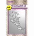Nellie Snellen 3D Embossing Folder Brach & Flower  EF3D005