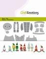 Craft Emotions Snijmal Gnomes 115633/0430