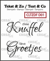 Crealies Clear Stamp Tekst en zo Duo Font Divers CLTZDFD01