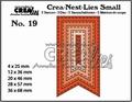 Crea-Nest-Lies Small Fishtail Banner Stitch CNLS19