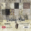 Craft & You Papierblok Vintage Man CPB-VM15