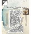Joy Crafts Snijmal Sketch Art Geometrische Hoeken 6002/1311