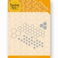 Jeanine's Art Snijmal Buzzing Bees Hexagon Set JAD10074