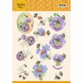 Jeanine's Art Knipvel Buzzing Bees Purple Flowers CD11337