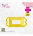 Nellie Snellen Shape Die Ticket & Tags - Ticket 1   SD170