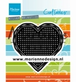 Marianne Design Craftables Cross Stitch Heart CR1482