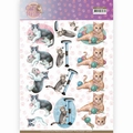 Amy Design knipvel Cat's World - Playing Cats CD11369