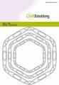 Craft Emotions Snijmal Frames Art Hexagon 115633/0517
