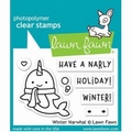 Lawn Fawn Clear Stamp Winter Narwhal LF2038