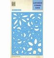 Nellie Snellen Layered Combi Die Rectangle Flowers B LCDB005