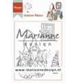 Marianne Design clear stamp Hetty's Gnomes Family HT1650