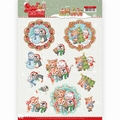 Yvonne Creations knipvel Sweet Winter Animals CD11374