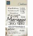 Marianne Design clear stamp Condoleance CS1041
