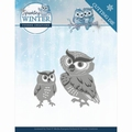 Yvonne Creations Die Sparkling Winter - Owls YCD10192
