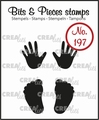 Crealies Clear Stamp Bits & Pieces Baby hands & Feet CLBP197