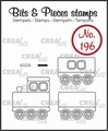 Crealies Clear Stamp Bits & Pieces Train & Wagon CLBP196