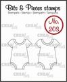 Crealies Clear Stamp Bits & Pieces Onesie CLBP203