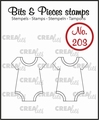 Crealies Clear Stamp Bits & Pieces Onesie CLBP203