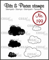 Crealies Clear Stamp Bits & Pieces Clouds CLBP199