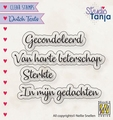Nellie Snellen Clear Stamp Dutch Texts Gecondoleerd DTCS029