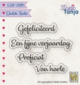 Nellie Snellen Clear Stamp Dutch Texts Proficiat DTCS027